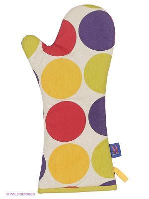 Длинная перчатка (серия Круги) Dexam. Цвет: белый, зеленый, фиолетовый