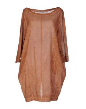 Короткое платье UN-NAMABLE. Цвет: коричневый