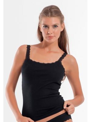 Майка женская Oztas underwear. Цвет: черный