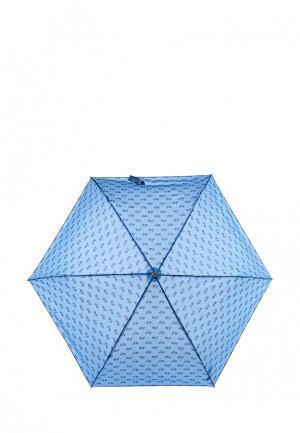 Зонт складной United Colors of Benetton. Цвет: голубой