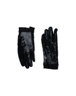 Перчатки MM6 MAISON MARGIELA. Цвет: темно-зеленый