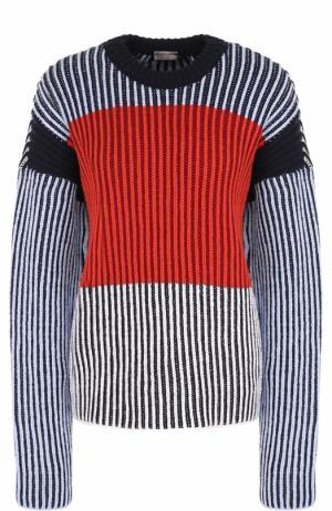 Пуловер свободного кроя с круглым вырезом MRZ. Цвет: разноцветный