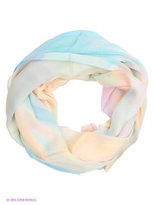 Палантин Moltini. Цвет: голубой, персиковый