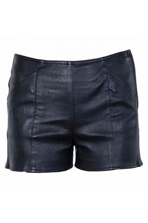 Кожаные шорты с карманами Patrizia Pepe. Цвет: черный