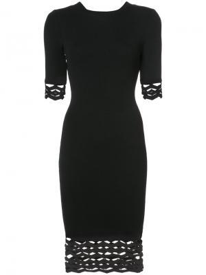 Платье кроя слим с резным узором Milly. Цвет: чёрный