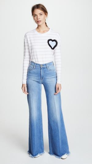 Striped Tee with Heart Patch Michaela Buerger