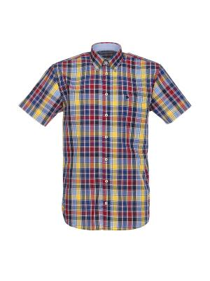 Рубашка Pre End. Цвет: синий, желтый