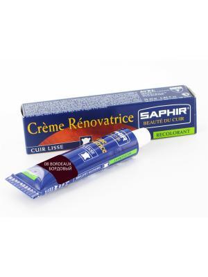 Восстановитель кожи Creme RENOVATRICE, 25 мл. (жидкая кожа)(08 бордовый ) Saphir. Цвет: бордовый