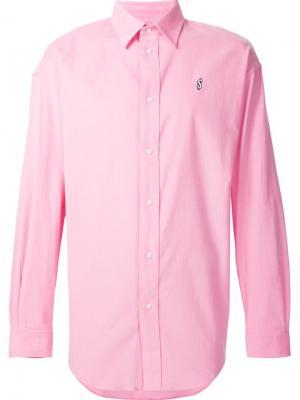 Рубашка с вышивкой Alexander Wang. Цвет: розовый и фиолетовый