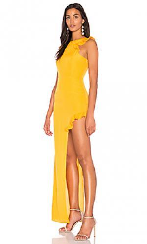 Платье juan AQ/AQ. Цвет: желтый
