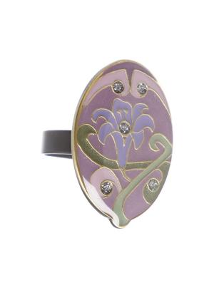 Кольцо Clara Bijoux. Цвет: зеленый, сиреневый, фиолетовый