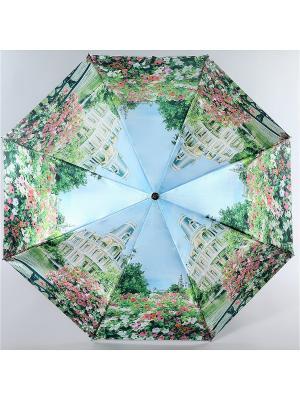 Зонт Trust Женский, 3сложения, Автомат, Полиэстер, Фото-Сатин. Цвет: зеленый, бежевый, голубой
