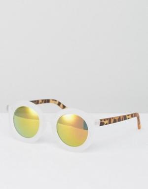 AJ Morgan Солнцезащитные очки с прозрачной оправой. Цвет: прозрачный