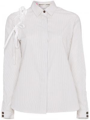 Рубашка Lena Sandy Liang. Цвет: белый