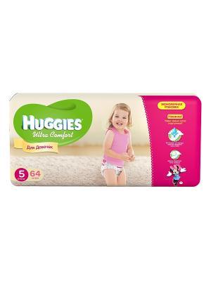 Подгузники Ultra Comfort Размер 5 12-22кг 64шт для девочек HUGGIES. Цвет: розовый