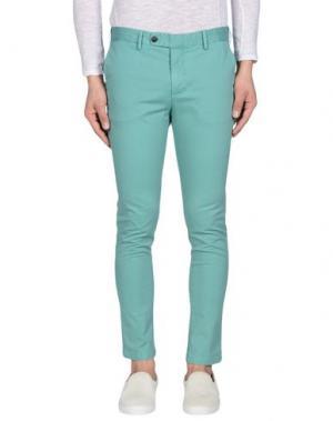 Повседневные брюки DAVID NAMAN. Цвет: светло-зеленый
