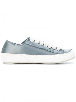 Кеды на шнуровке Pedro Garcia. Цвет: синий