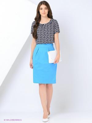 Блузка PAVO. Цвет: синий