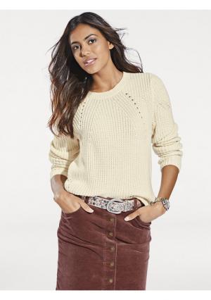 Пуловер B.C. BEST CONNECTIONS. Цвет: серый меланжевый, экрю