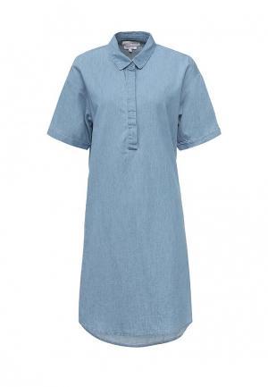 Платье джинсовое Native Youth. Цвет: голубой