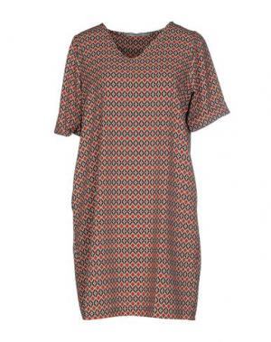 Короткое платье LA FEE MARABOUTEE. Цвет: ржаво-коричневый