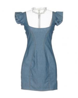 Короткое платье ALESSANDRA RICH. Цвет: синий