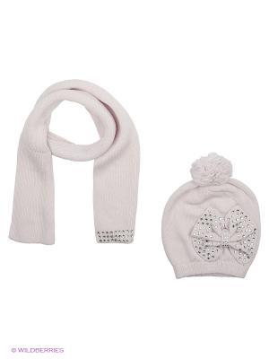 Комплект (шапка,шарф) R&I. Цвет: серый