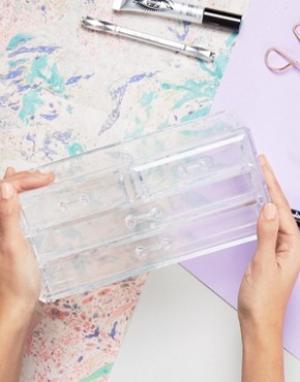 Beauty Extras Органайзер для косметики с 4 ящичками. Цвет: бесцветный