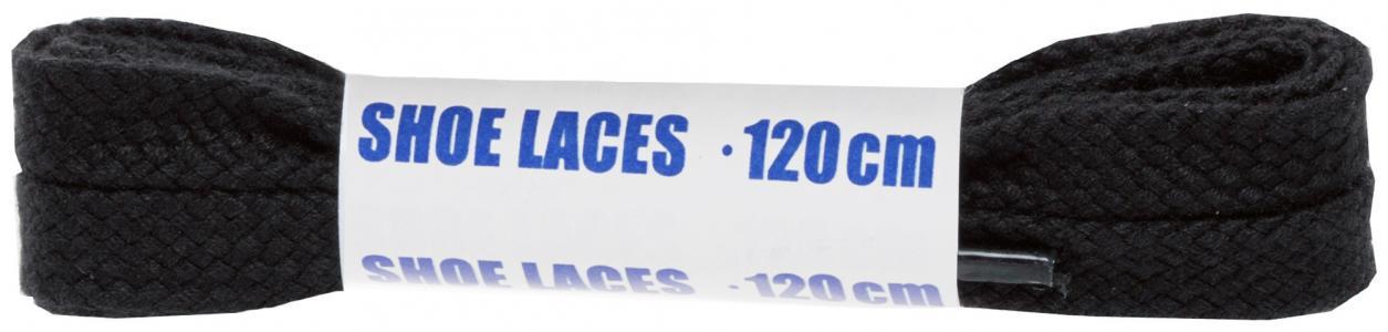 Шнурки черные плоские  Sport, 120 см Woly