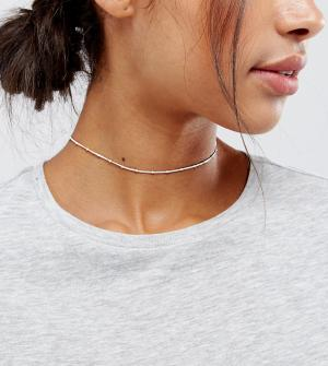 Kingsley Ryan Серебряное ожерелье-чокер. Цвет: серебряный