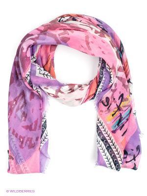 Платок Labbra. Цвет: розовый, фиолетовый, коралловый