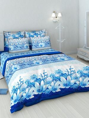 Комплект постельного белья Василиса. Цвет: голубой, белый