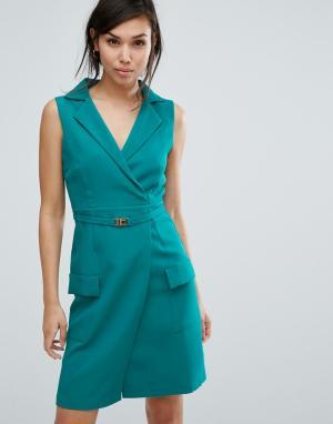 Vesper Платье без рукавов. Цвет: зеленый