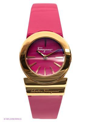 Часы Salvatore Ferragamo. Цвет: золотистый, фуксия