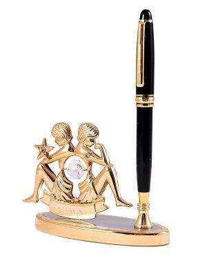 Подставка под ручку - знак зодиака Стрелец CRYSTOCRAFT. Цвет: золотистый, черный