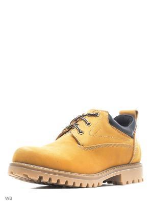 Ботинки BEVANY. Цвет: желтый