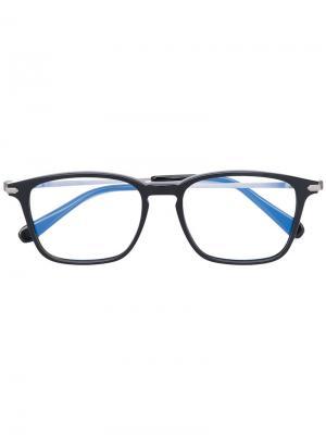 Очки в квадратной оправе Brioni. Цвет: чёрный