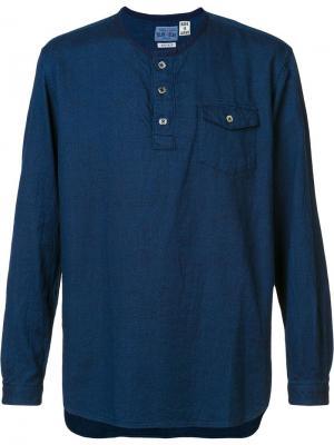 Кофта Henley Blue Japan. Цвет: синий
