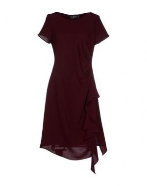 Платье до колена LIST. Цвет: красно-коричневый