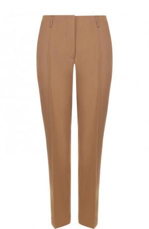 Укороченные шерстяные брюки со стрелками Dries Van Noten. Цвет: бежевый