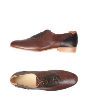 Обувь на шнурках LEONARDO PRINCIPI. Цвет: какао