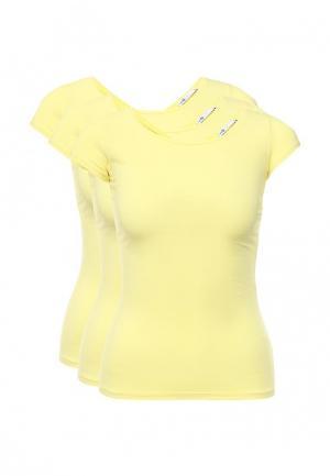 Комплект футболок 3 шт. oodji. Цвет: желтый