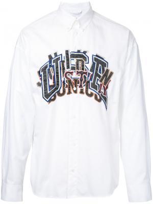Рубашка с вышивкой Doublet. Цвет: белый