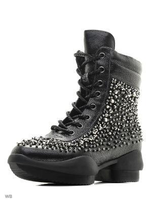 Ботинки EGGA. Цвет: антрацитовый, темно-серый