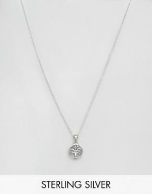 Kingsley Ryan Серебряное ожерелье с подвеской. Цвет: серебряный