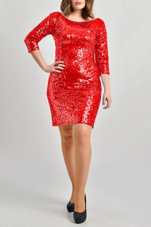 Платье Moda di Lorenza. Цвет: красный