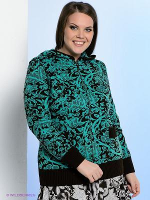Кофта Milana Style. Цвет: зеленый, коричневый