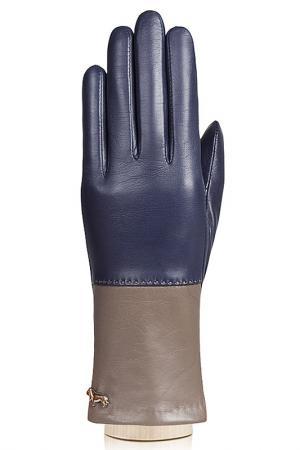 Перчатки Labbra. Цвет: темно-синий, серо-коричневый