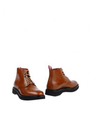 Полусапоги и высокие ботинки GREEN GEORGE. Цвет: коричневый