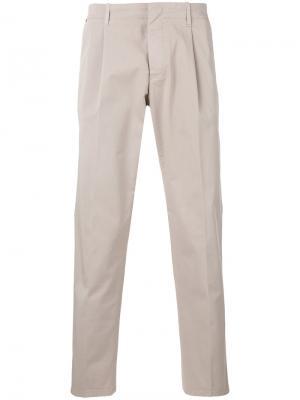 Классические брюки Fay. Цвет: телесный